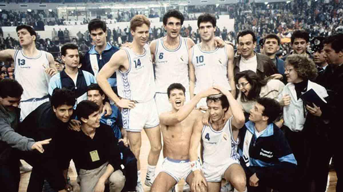 Recopa baloncesto 1989 Real Madrid Snaidero Caserta