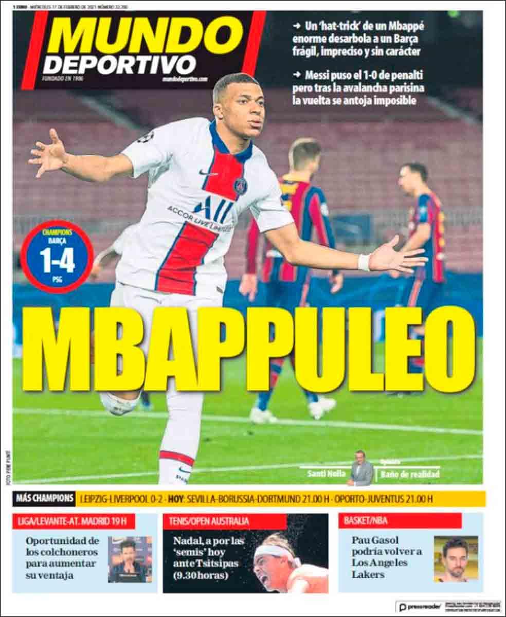 Portada Mundo Deportivo Mbappé