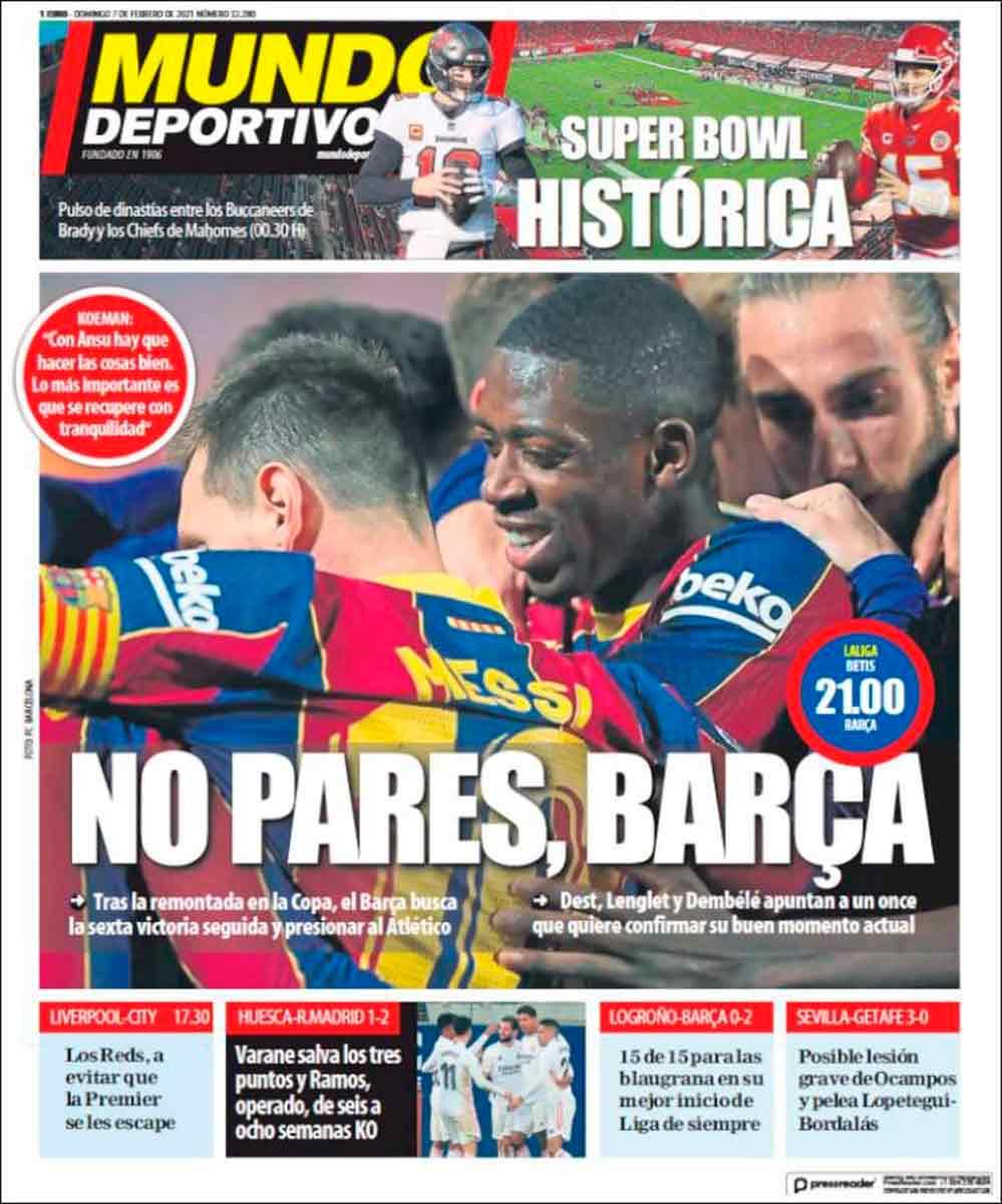 Portada Mundo Deportivo 07 febrero