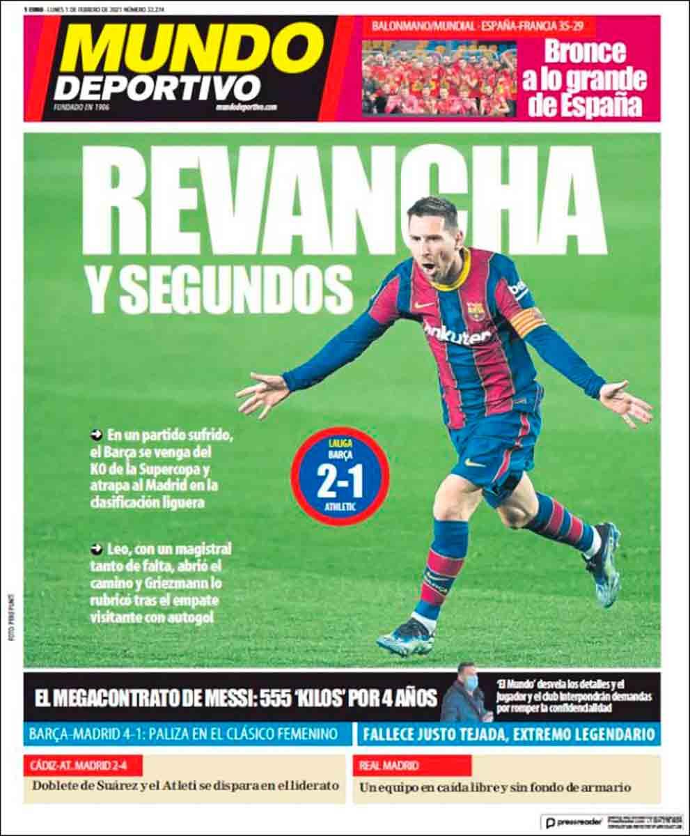 Portada Mundo Deportivo