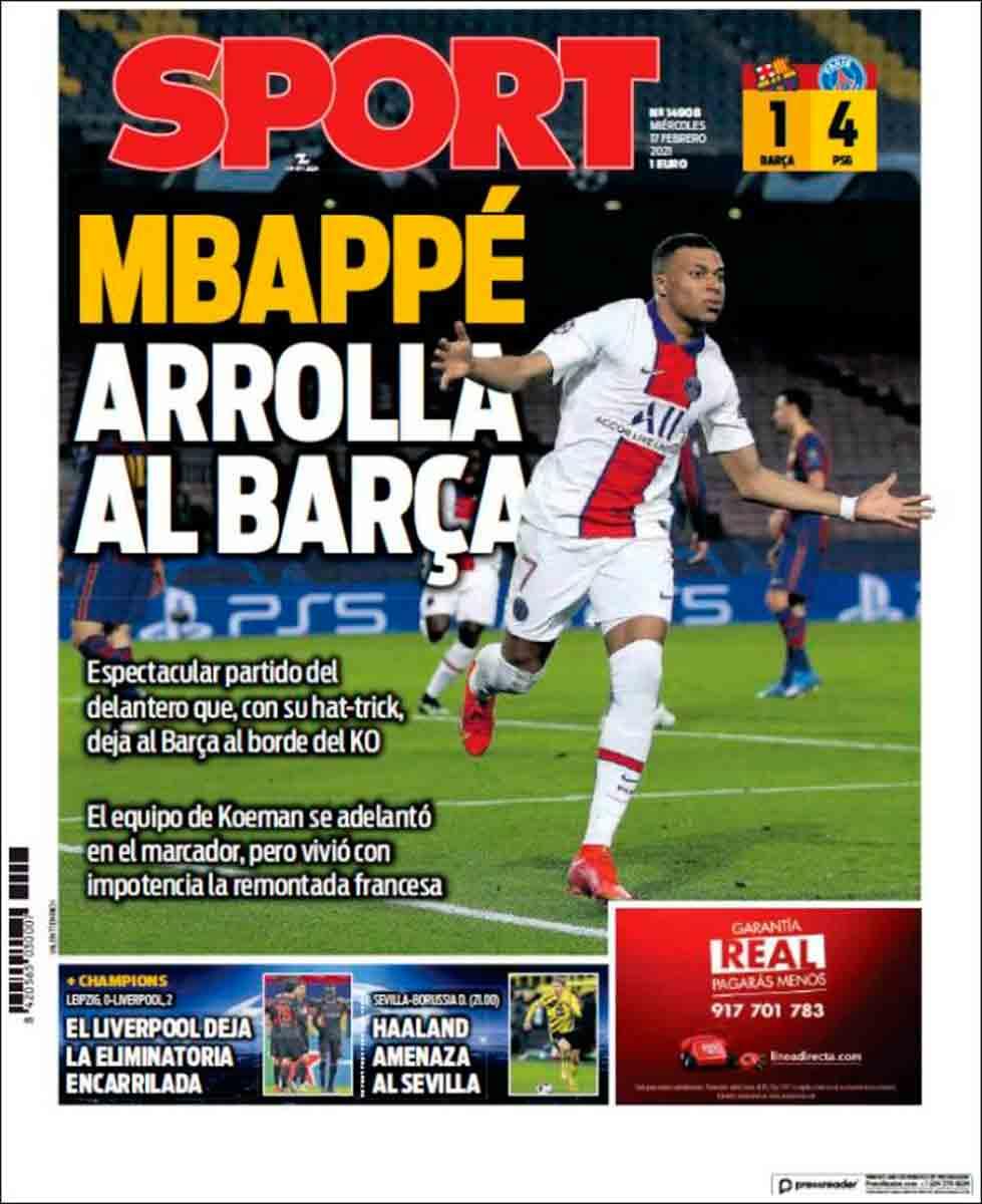 Portada Sport Mbappé
