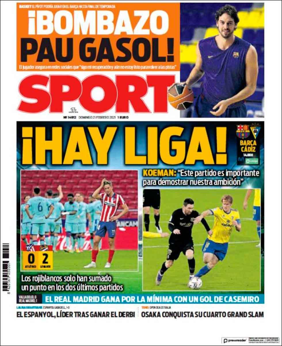 Portada Sport Hay Liga