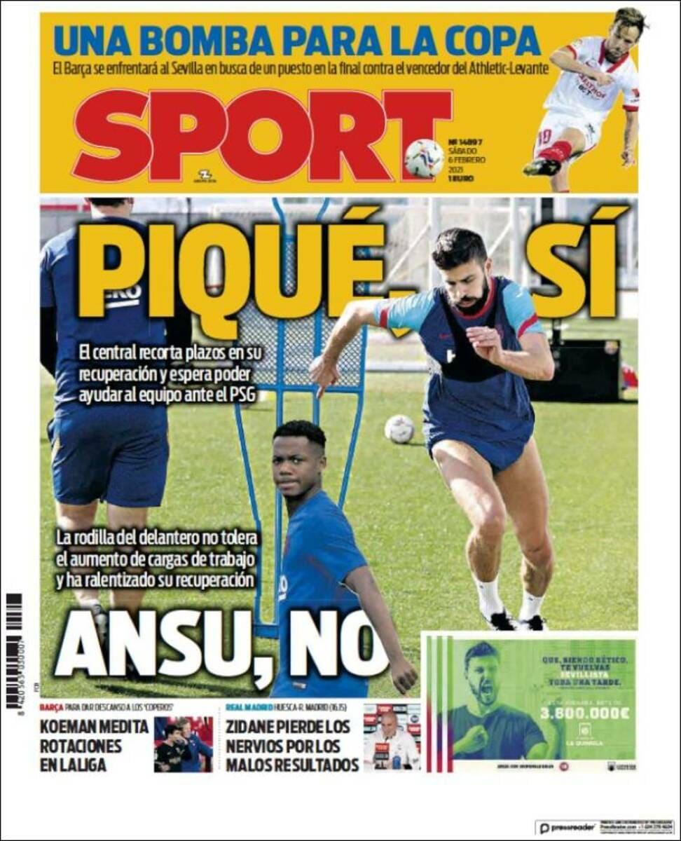 Portada Sport.