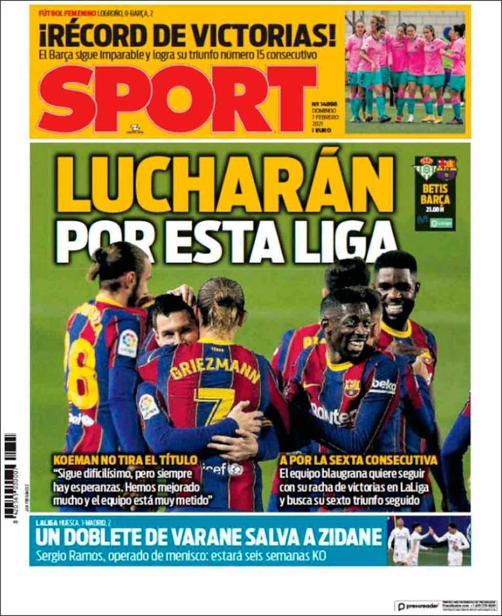 Portada Sport Lucharán por esta liga