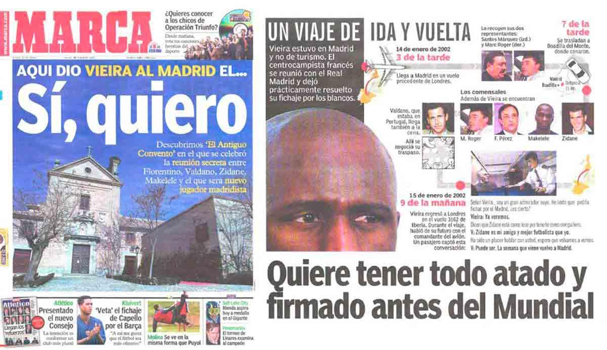 Marca Vieira Real Madrid sí quiero