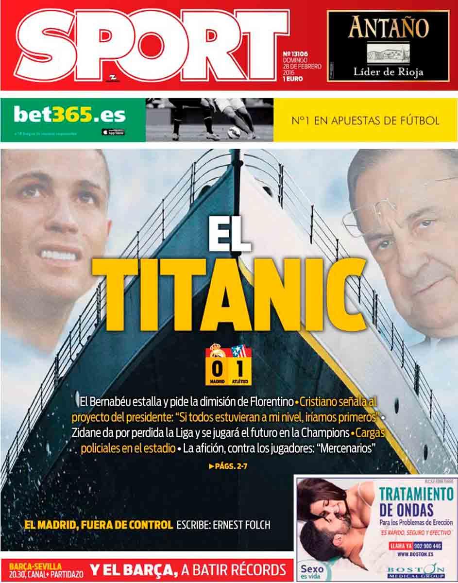 Portada Sport Titanic