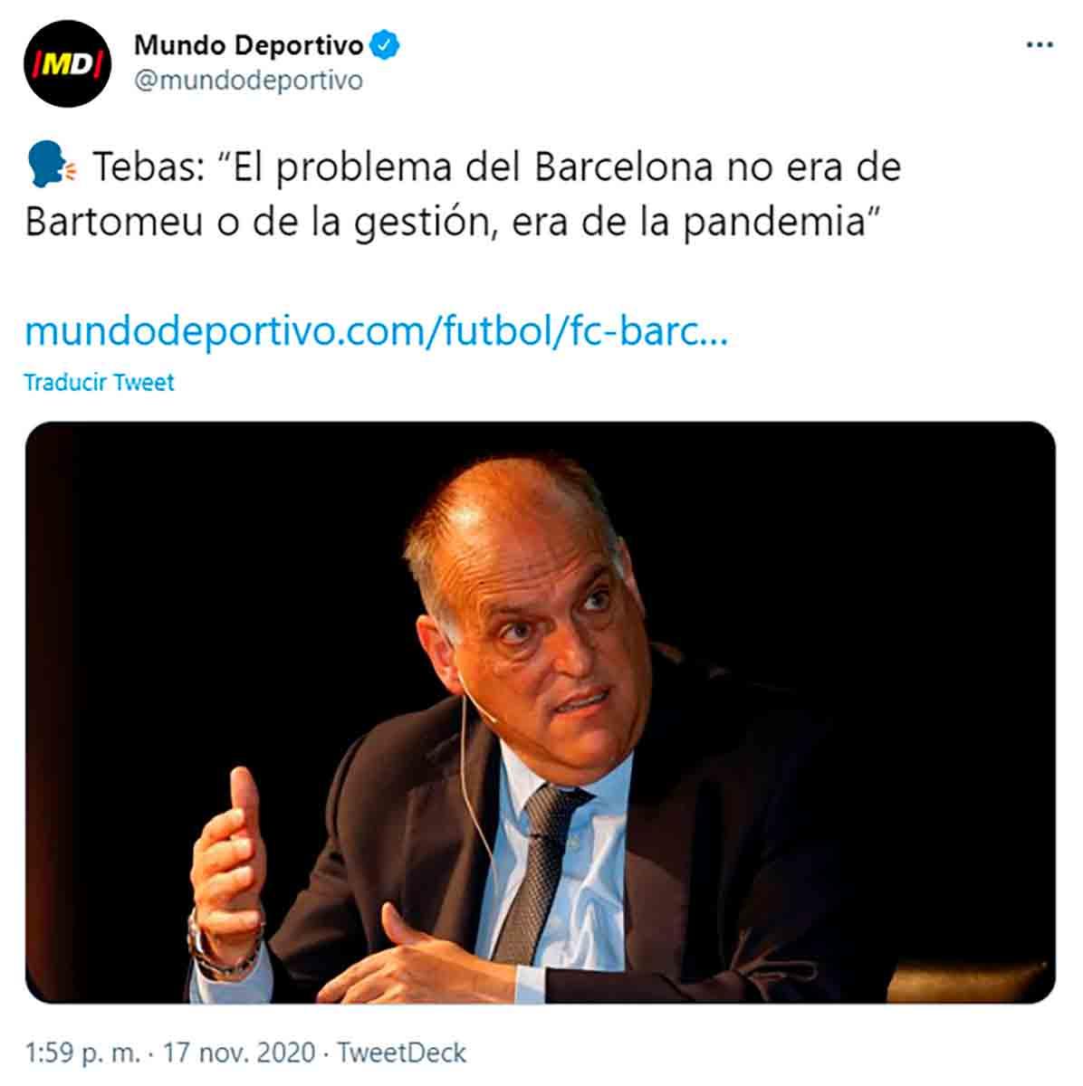 Tebas Bartomeu