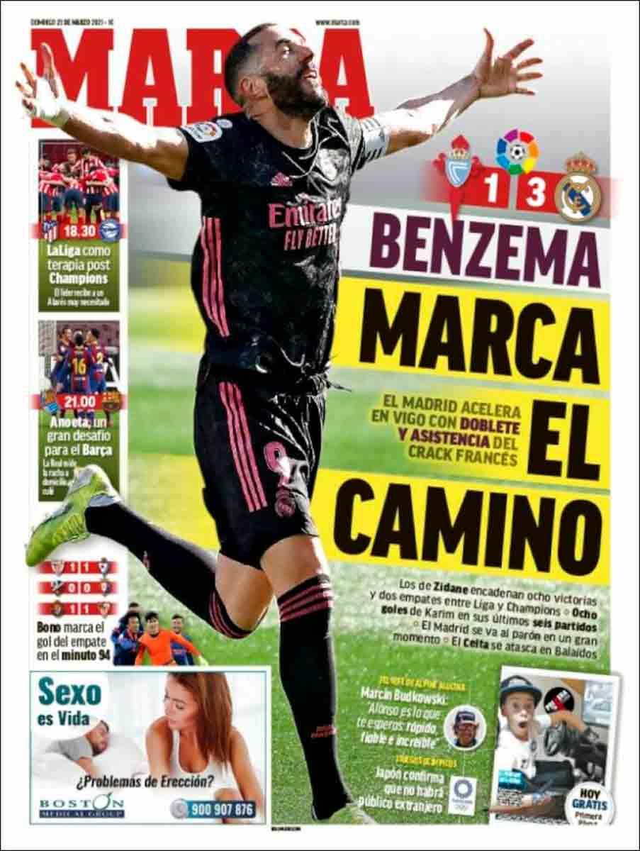 Portada Marca Benzema Celta