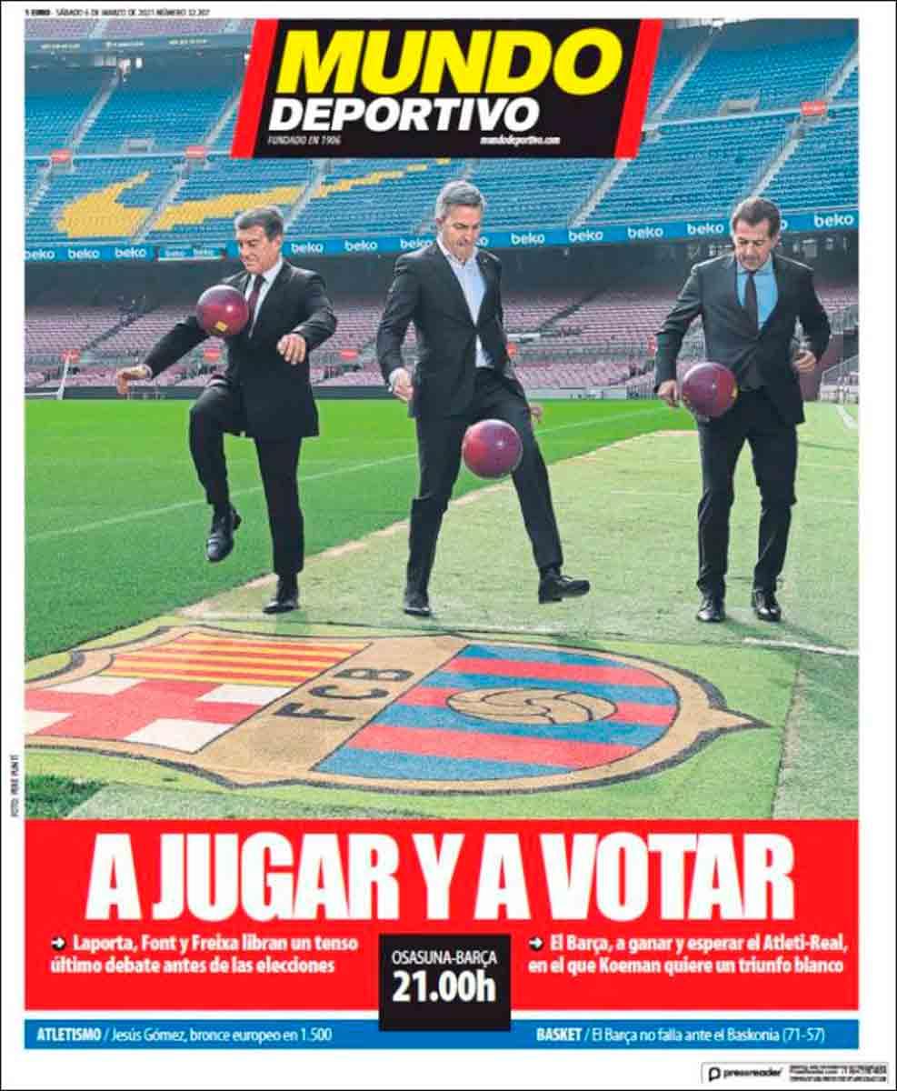 Portada Mundo Deportivo candidatos