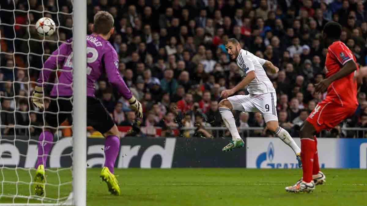 Benzema gol Liverpool