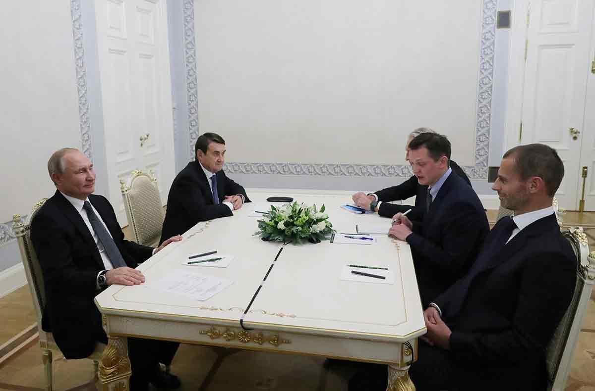 Ceferin y Putin