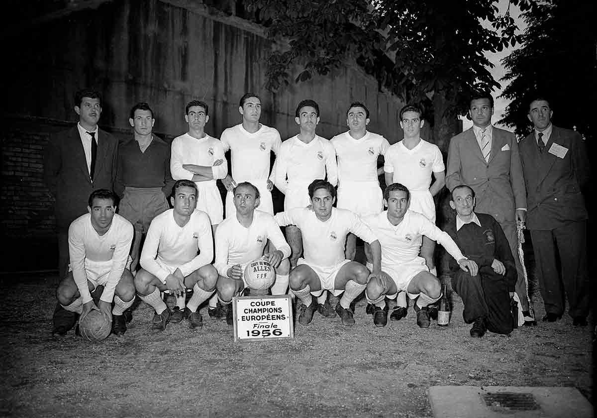 Real Madrid campeón Europa 1956