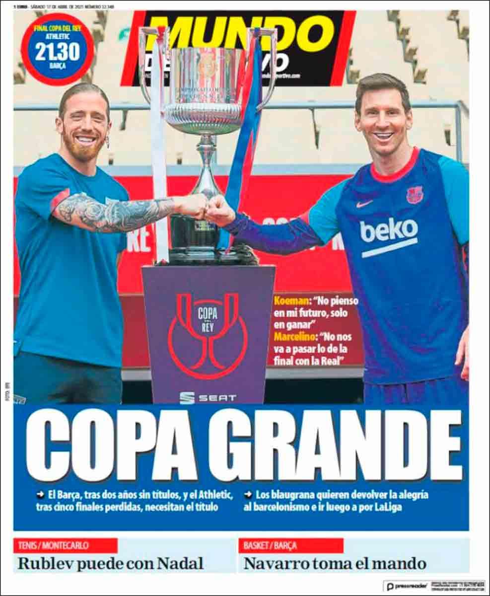 Portada Mundo Deportivo 17-04-21