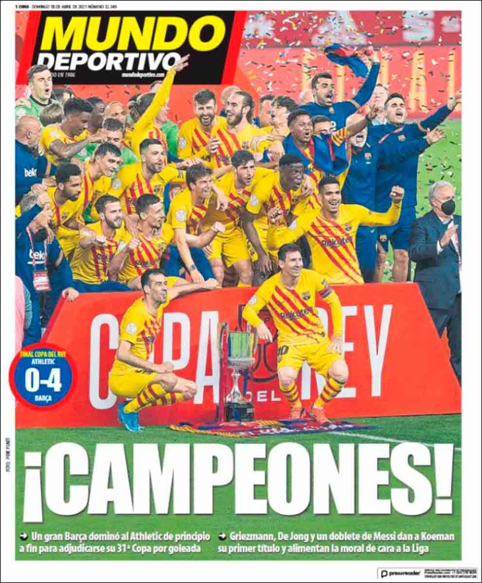 Portada Mundo Deportivo 18-04-21