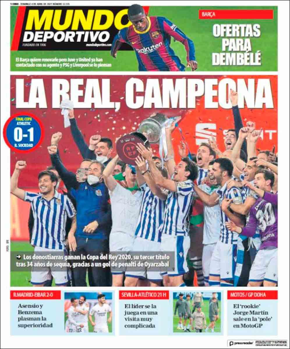 Portada Mundo Deportivo 04-04-21