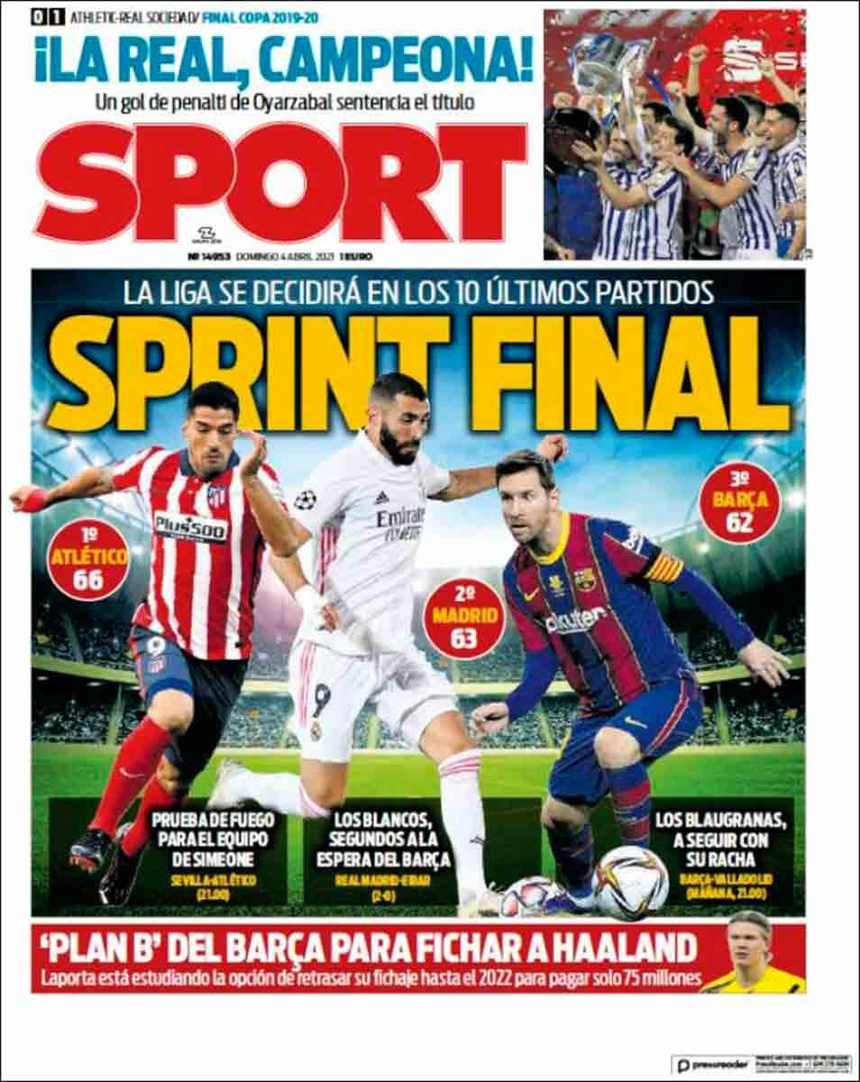 Portada Sport 04-04-21
