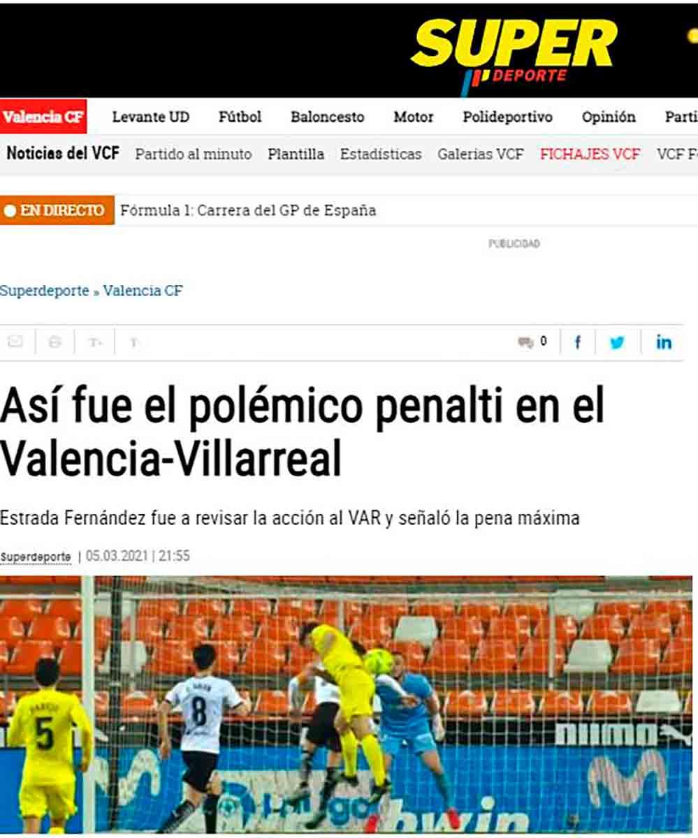 Penalti Mano Valencia