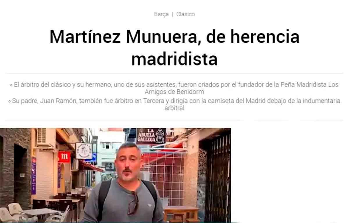 Martínez Munuera acoso indecente Benidorm