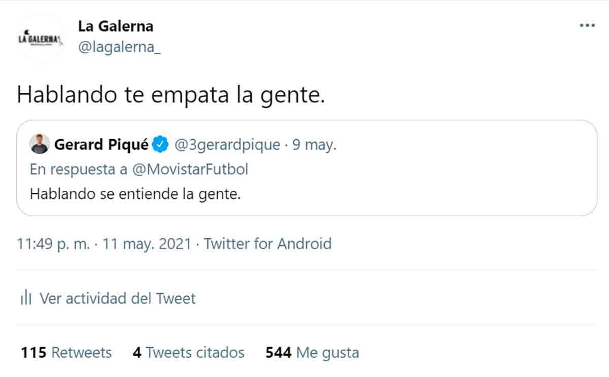 Tuit La Galerna Piqué