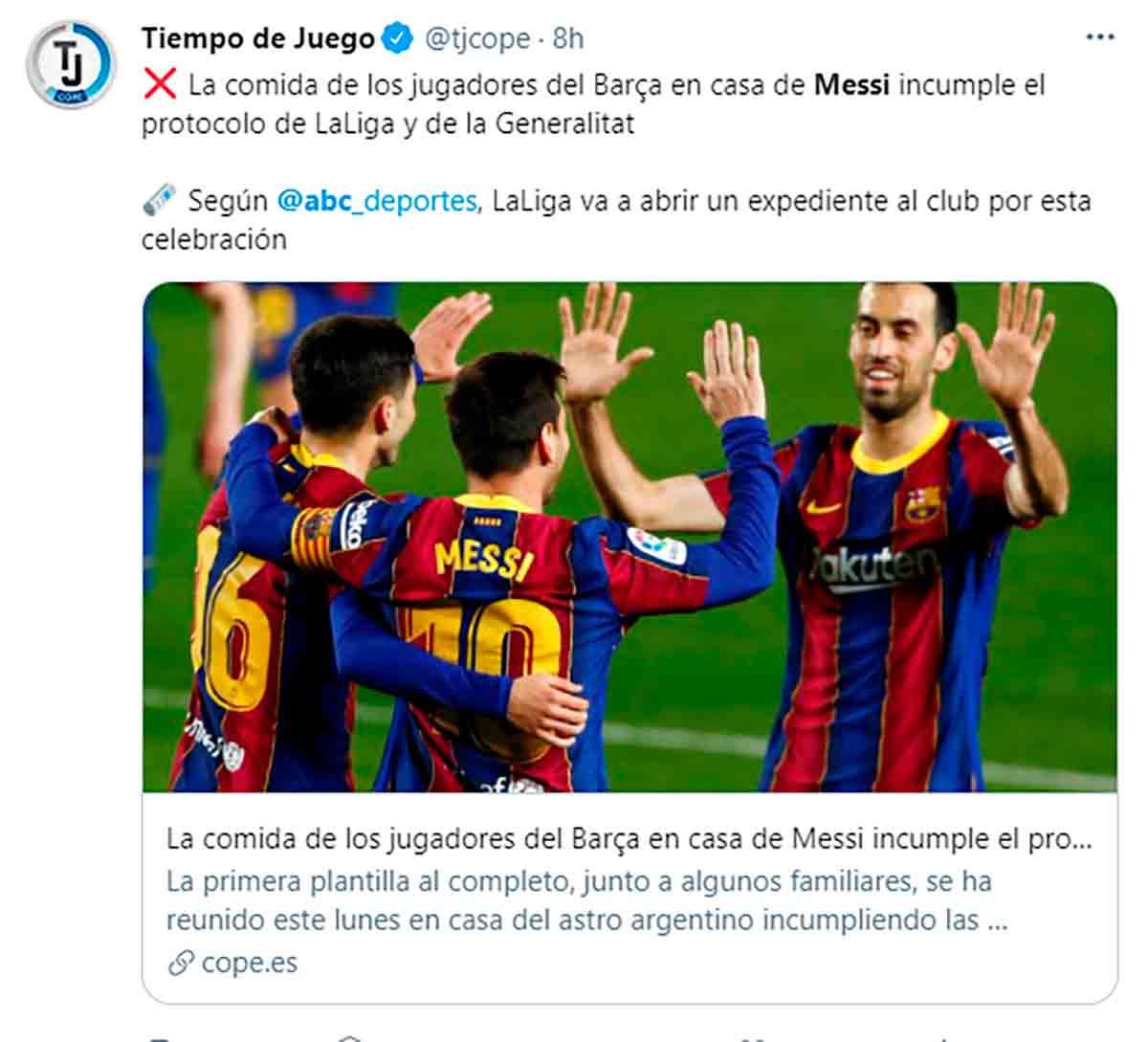 Tuit asado Messi
