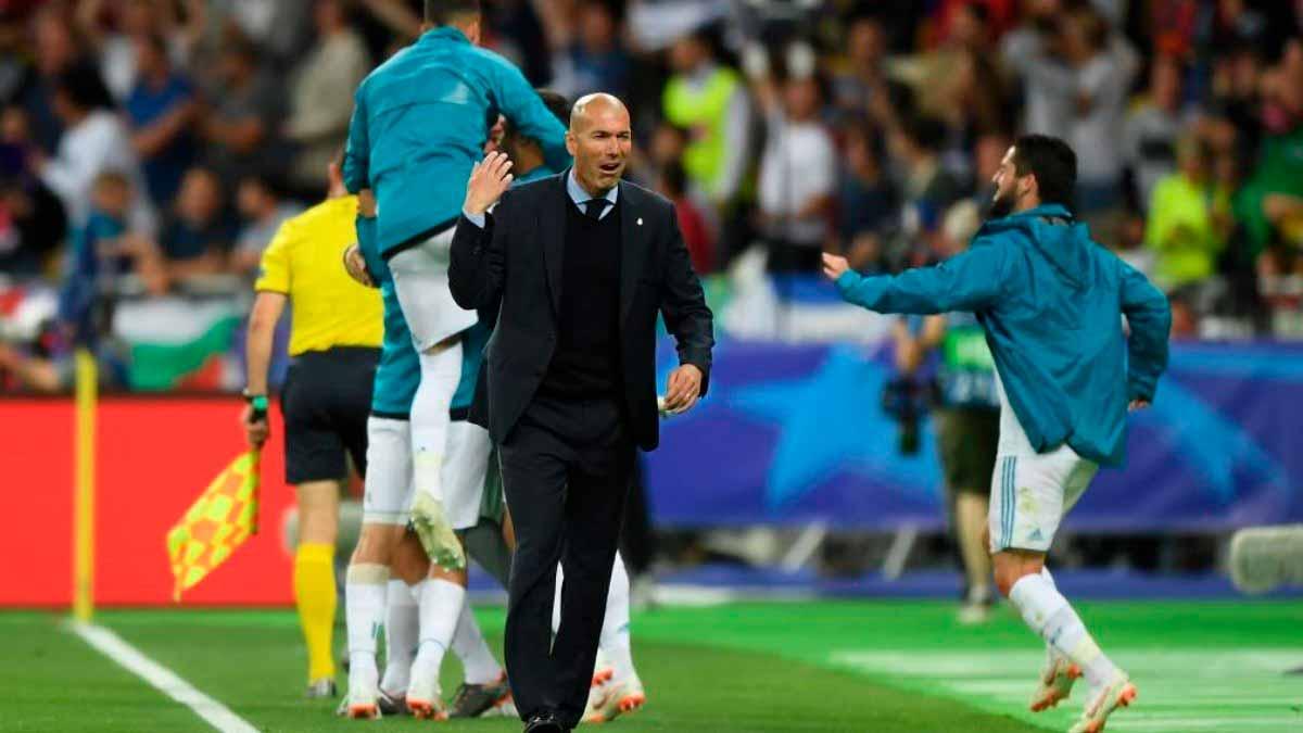 Zidane celebración gol Kiev