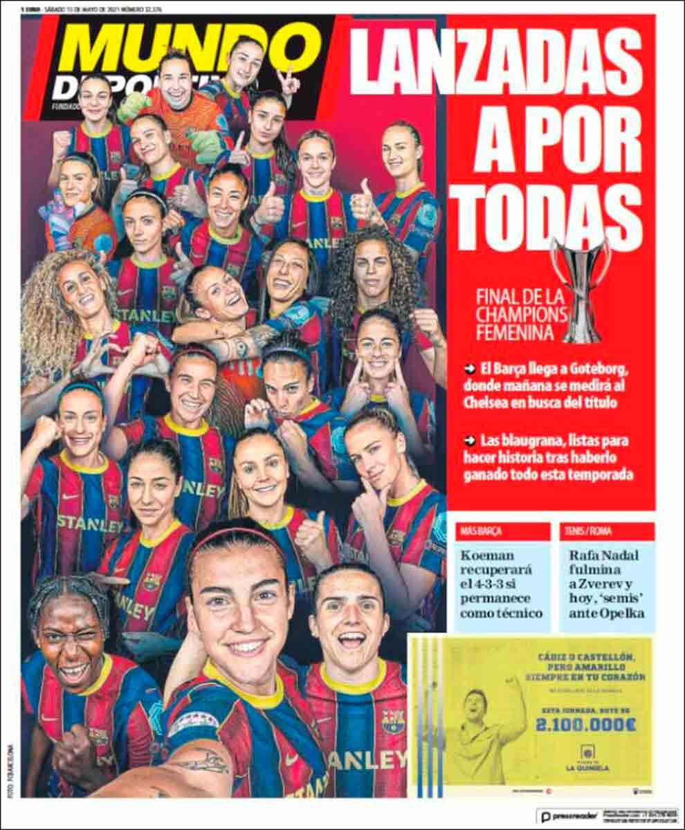 Portada Mundo Deportivo 15-05-21