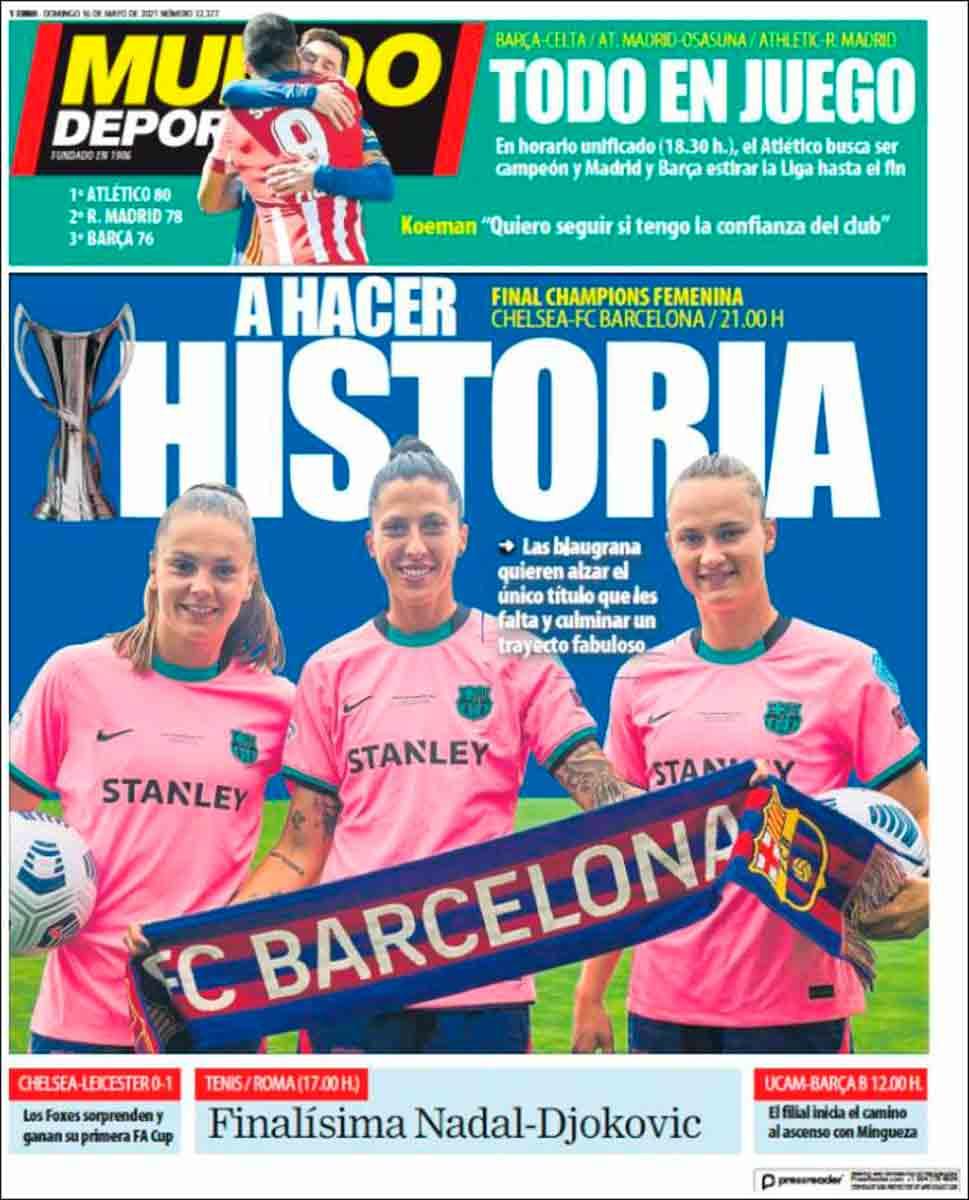 Portada Mundo Deportivo 16-05-21