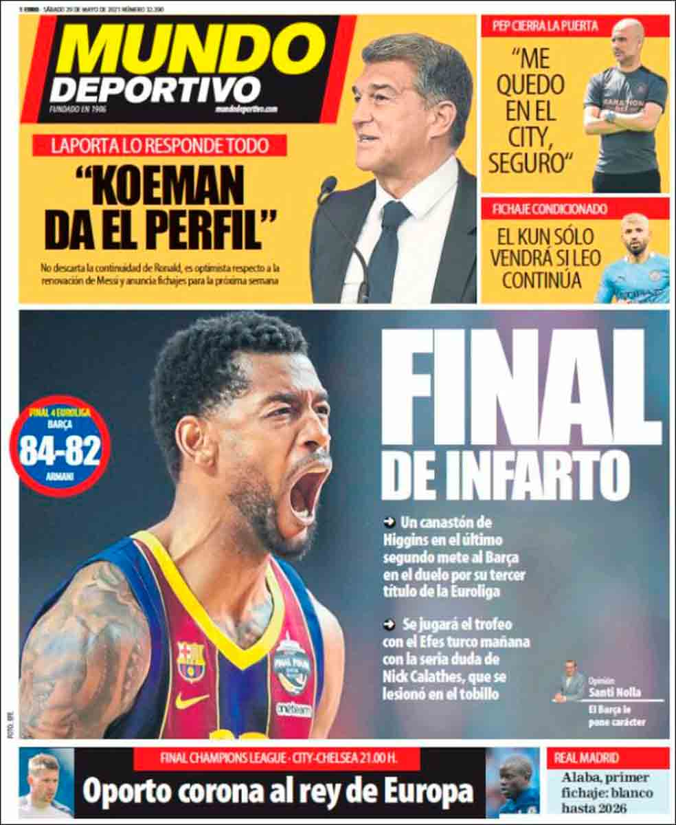 Portada Mundo Deportivo 29-05-21