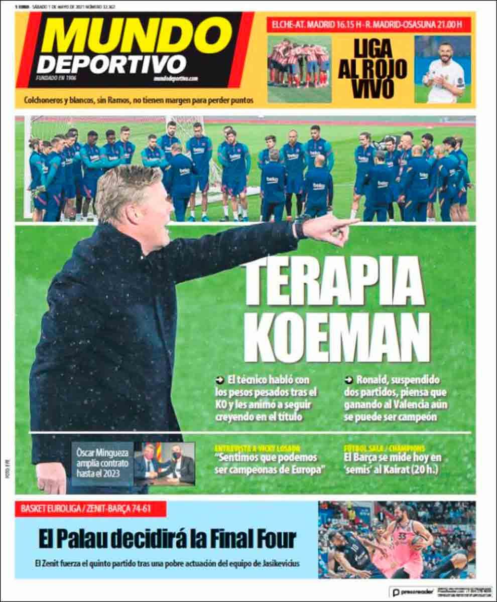 Portada Mundo Deportivo 01-05-21