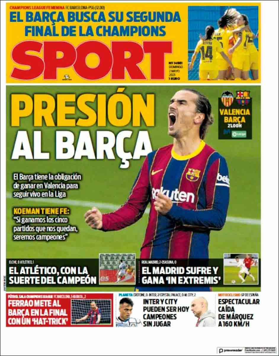 Portada Sport 02-05-21