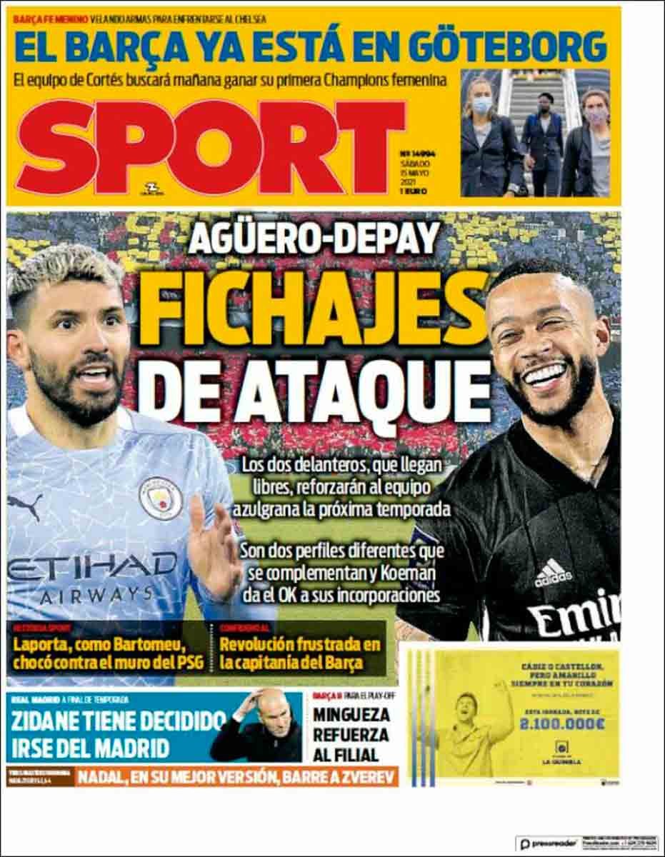 Portada Sport 15-05-21