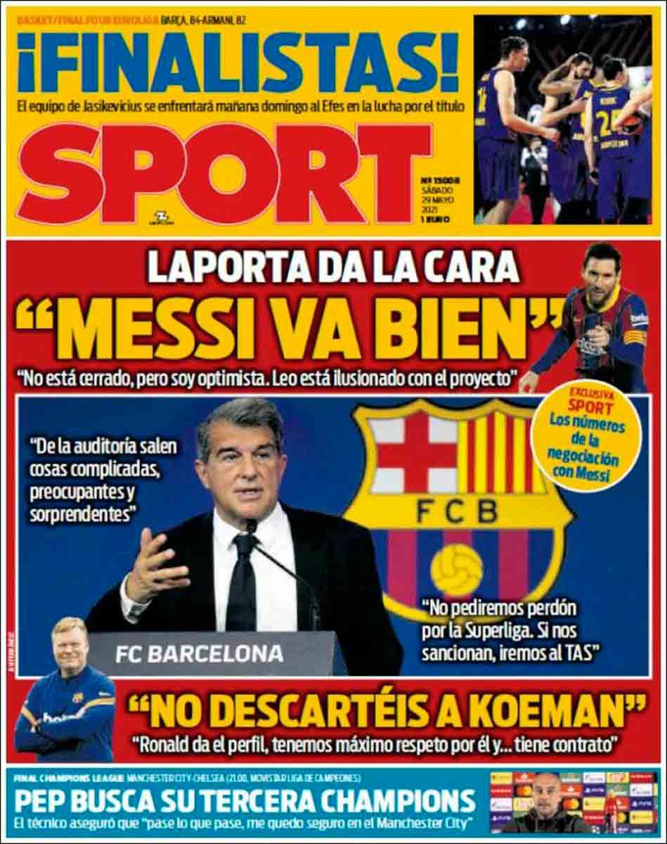 Portada Sport 29-05-21