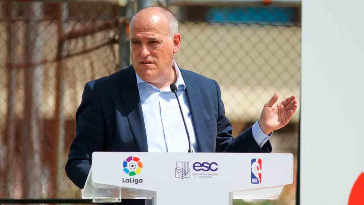 Tebas, el Madrid, el Barça y el límite salarial