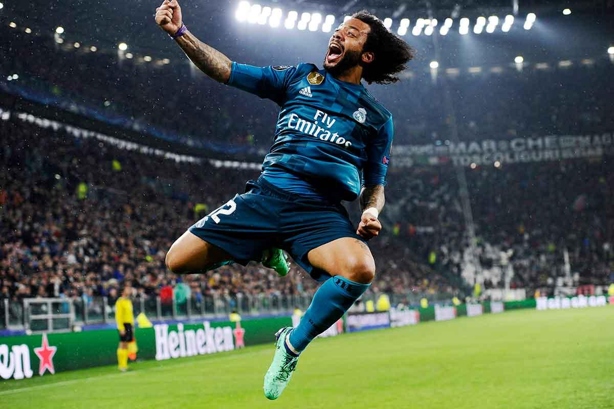 Marcelo celebración gol