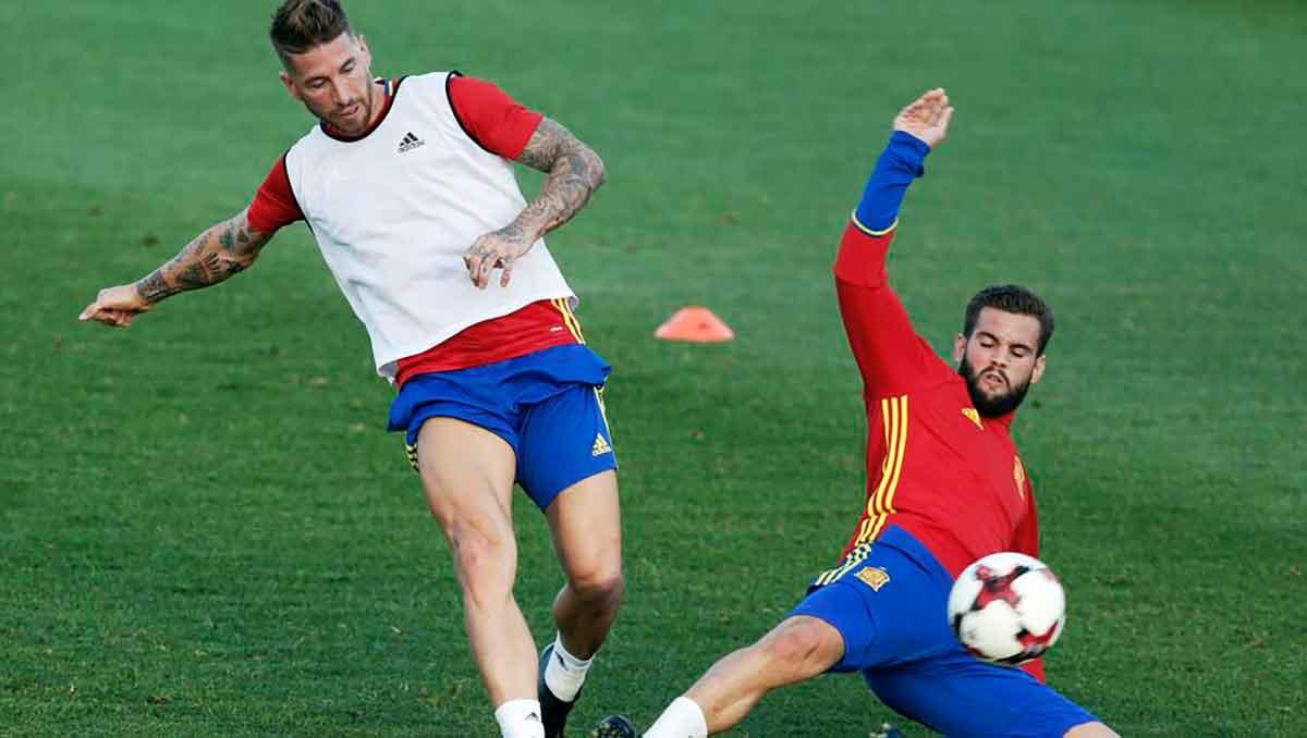 Ramos y Nacho con España