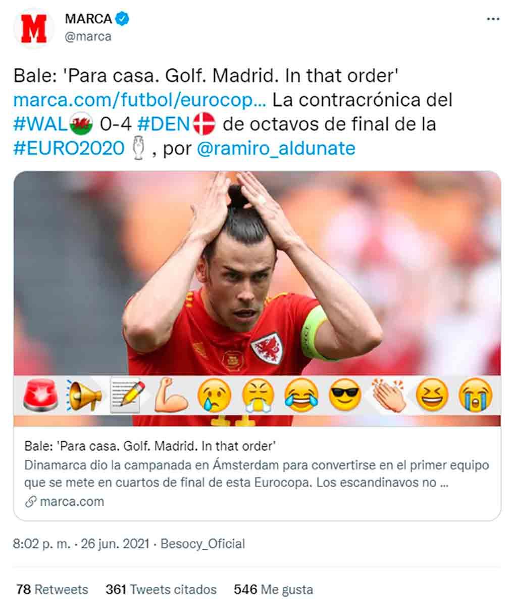 Tuit Marca Bale Eurocopa