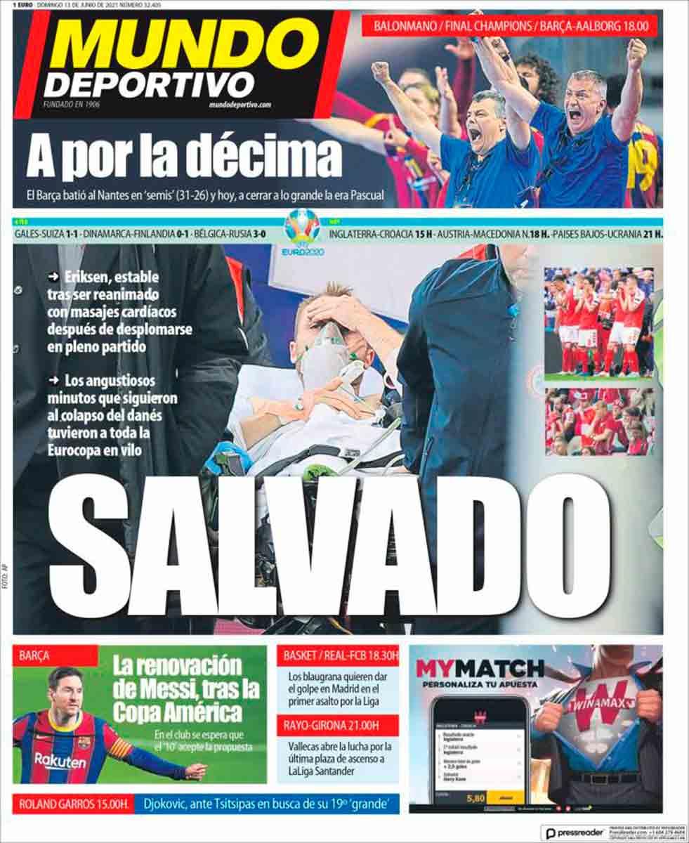 Portada Mundo Deportivo 13-06-21