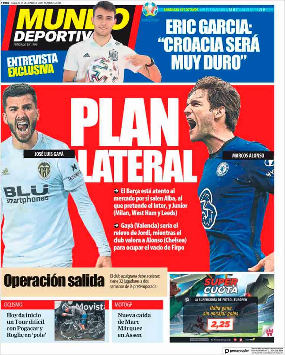 Portada Mundo Deportivo 26-06-21