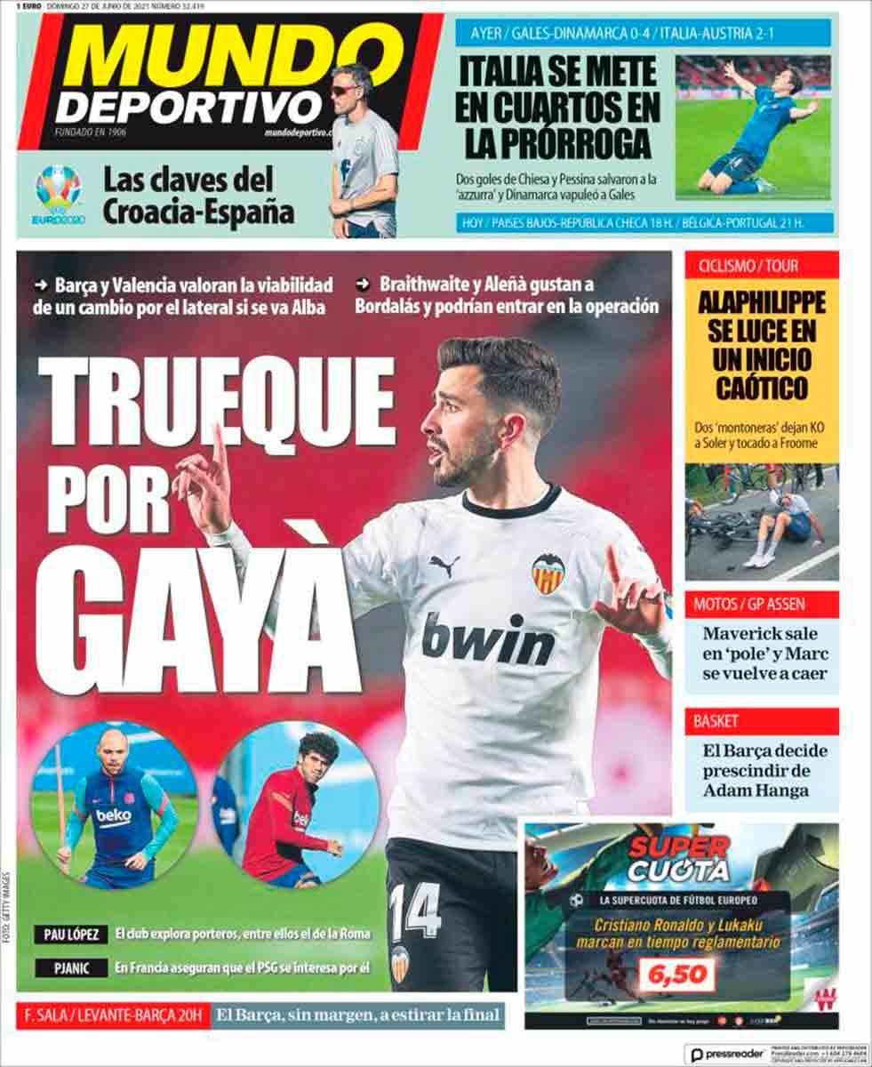 Portada Mundo Deportivo 27-06-21