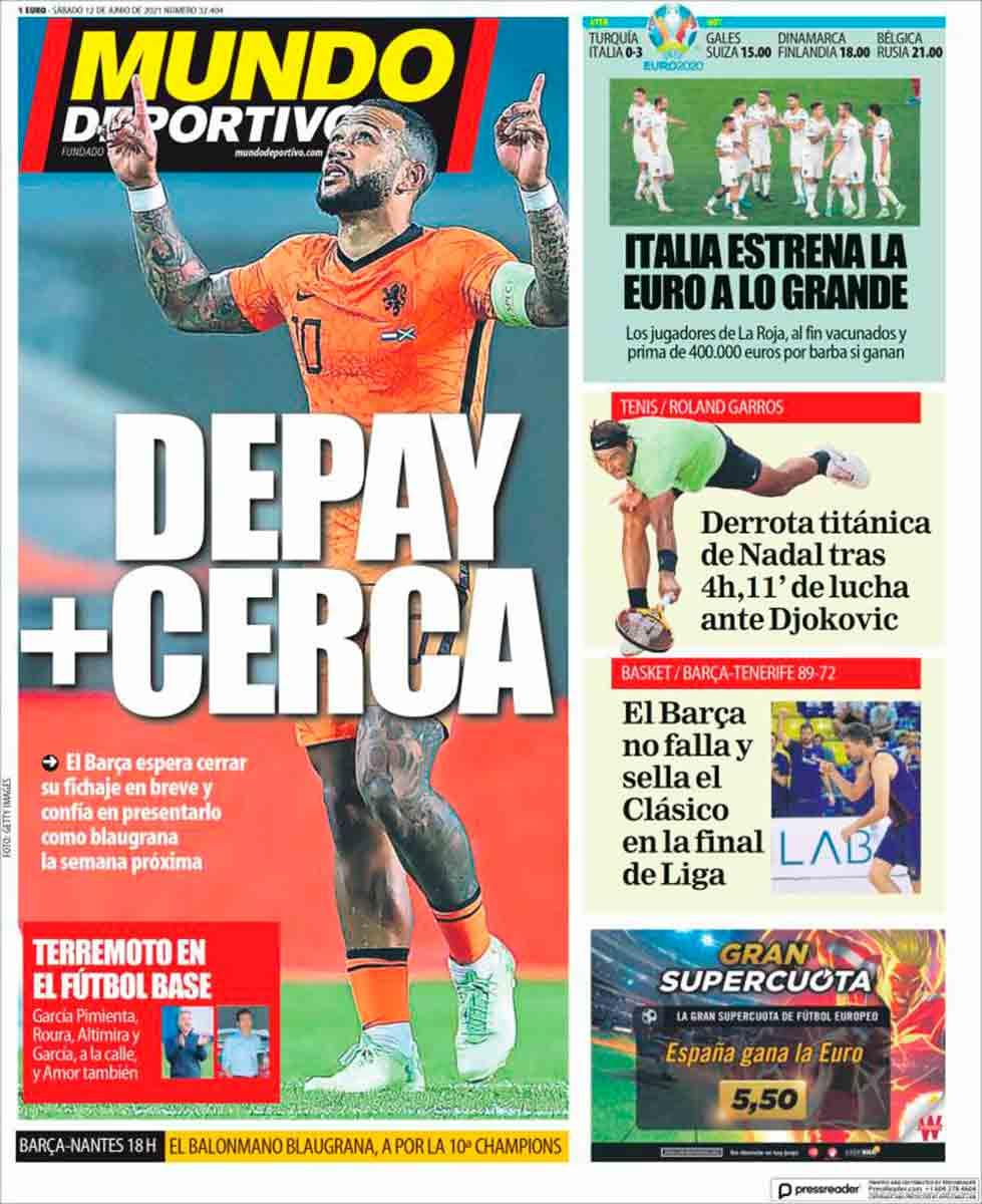 Portada Mundo Deportivo 12-06-21