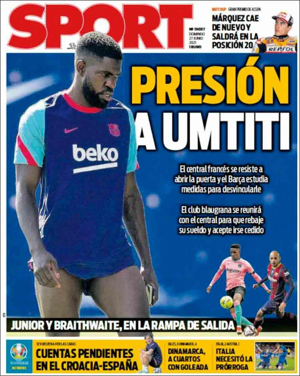 Portada Sport 27-06-21