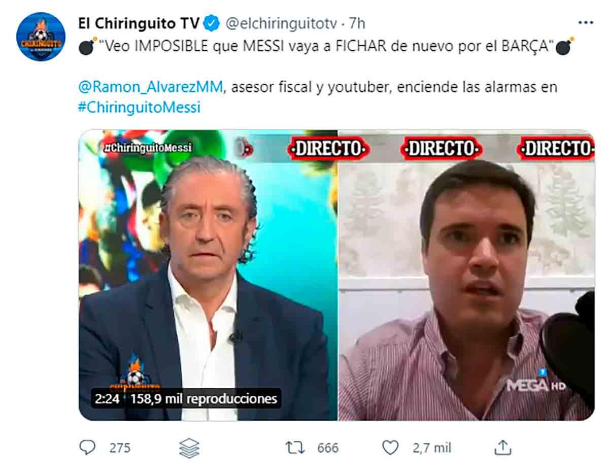 Tuit Chiringuito Ramón