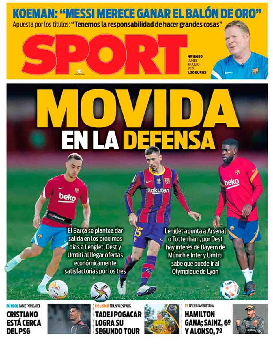 Portada Sport 19-07-21