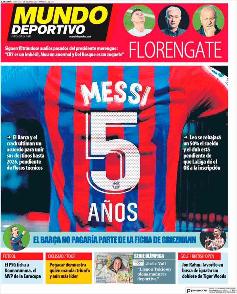 Portada Mundo Deportivo 15-07-21