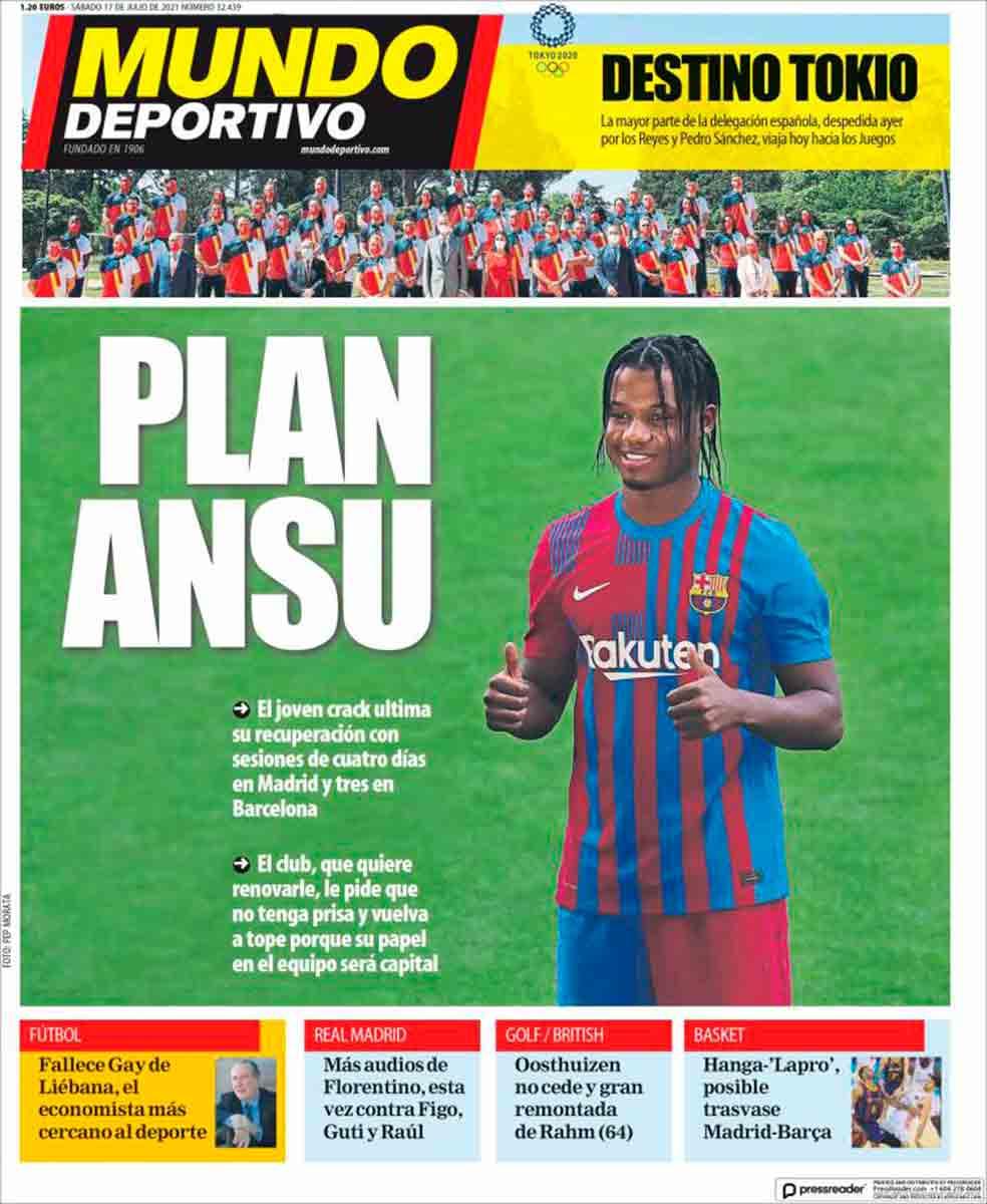 Portada Mundo Deportivo 17-07-21