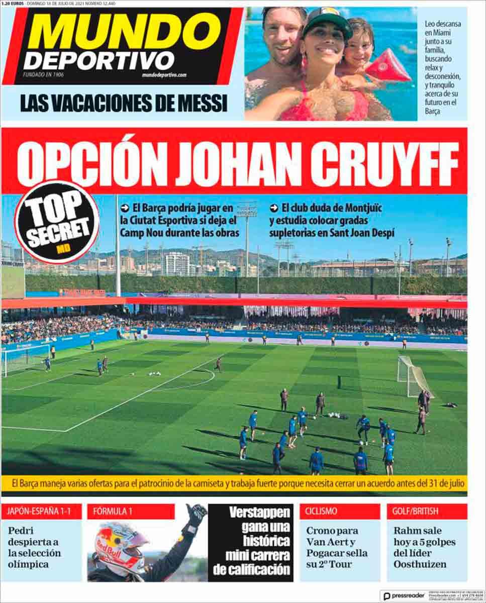 Portada Mundo Deportivo 18-07-21