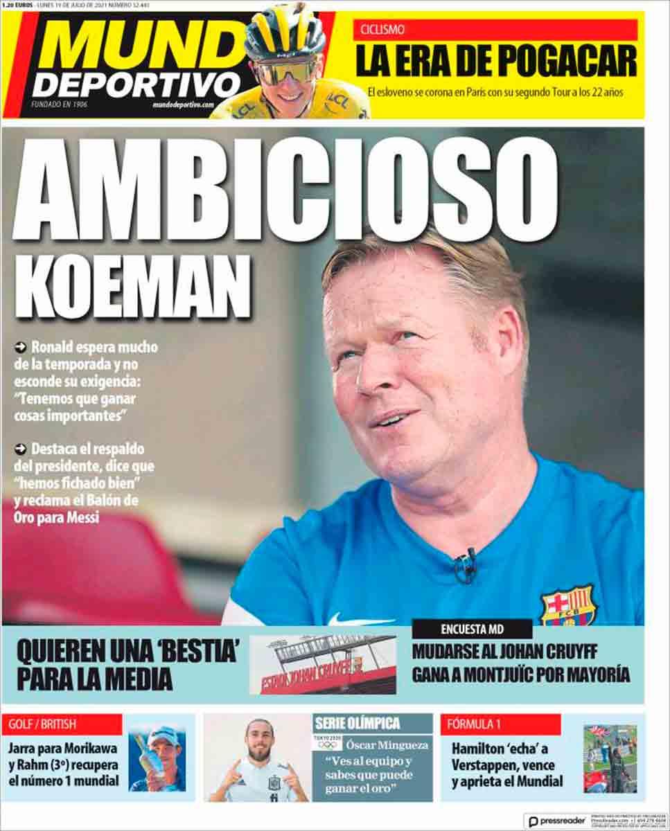 Portada Mundo Deportivo 19-07-21