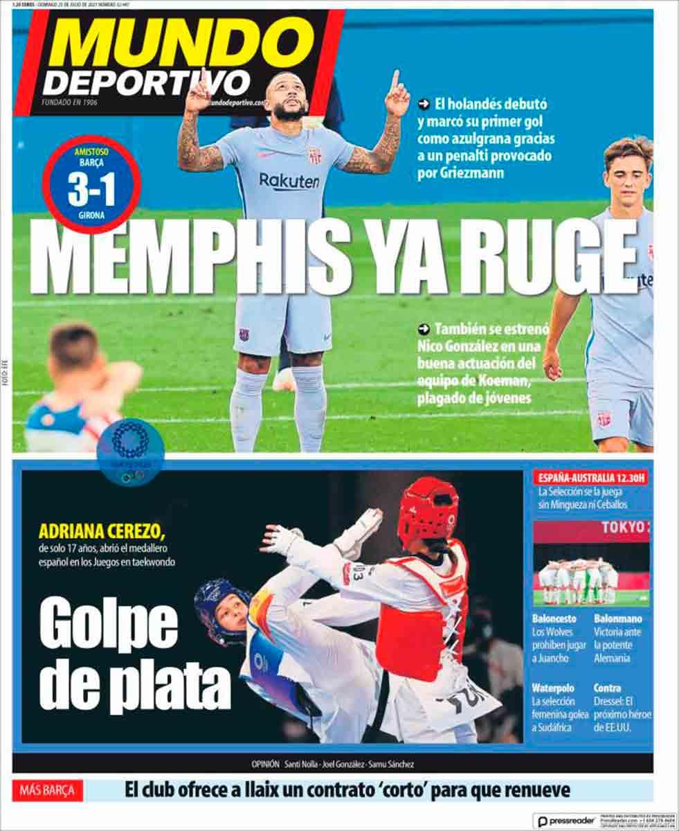 Portada Mundo Deportivo 25-07-21