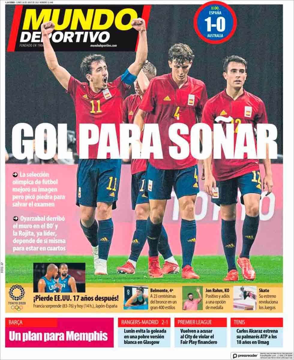 Portada Mundo Deportivo 26-07-21