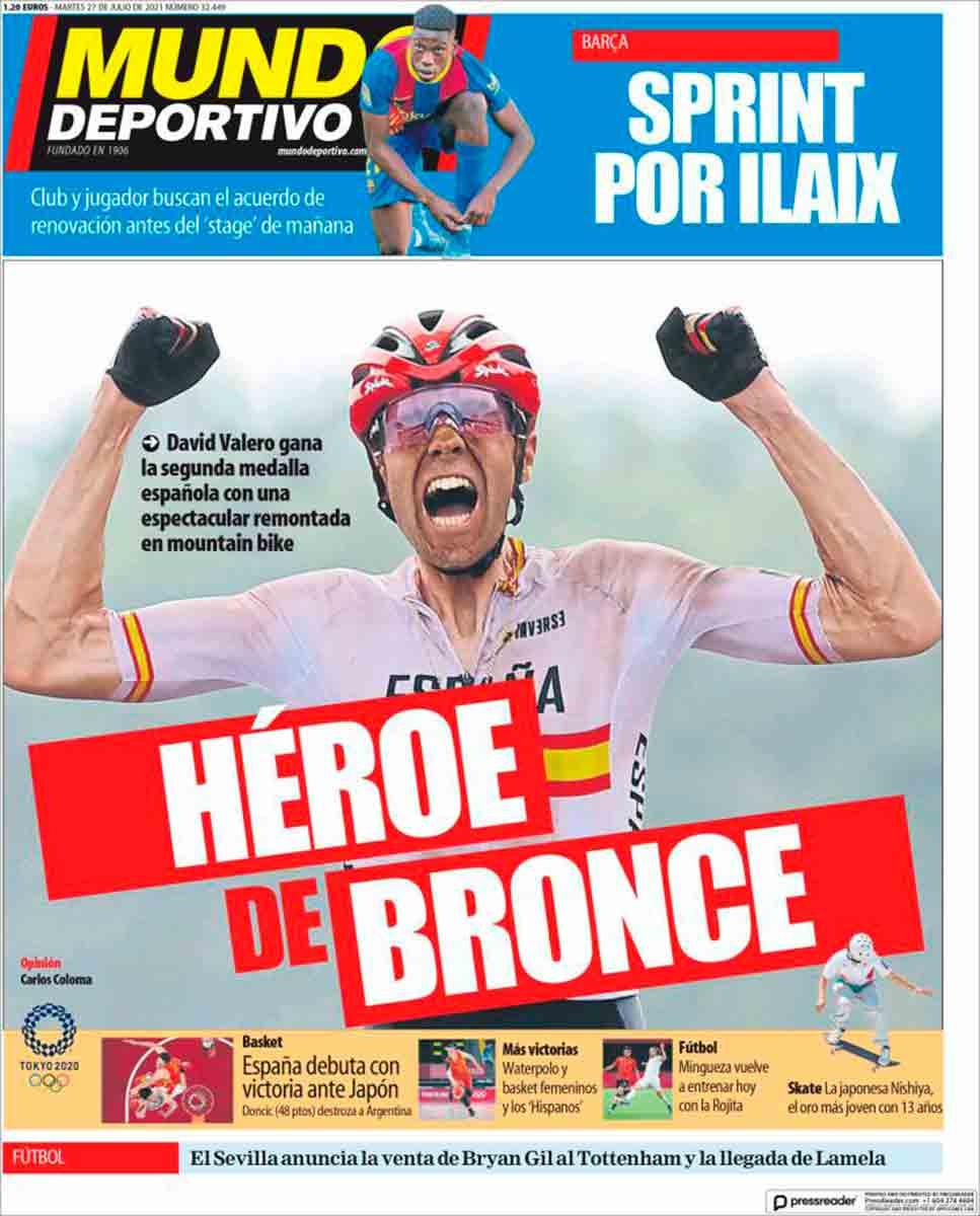 Portada Mundo Deportivo 27-07-21